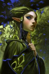Blue leaf elf by medders