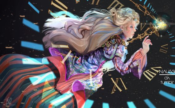 Alice Through the Looking Glass + |SPEEDPAINT| by Naussi