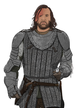 The Hound - Game of Thrones by dragonitearmy