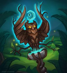 Hearthstone fanart: G'Hanir the Mother Tree by Nathrezija