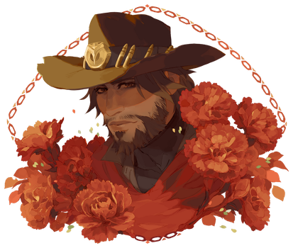 [Overwatch] Carnations by paexiedust