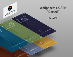 Wallpapers iOS7 LS/SB : Dotted Color by Svink77