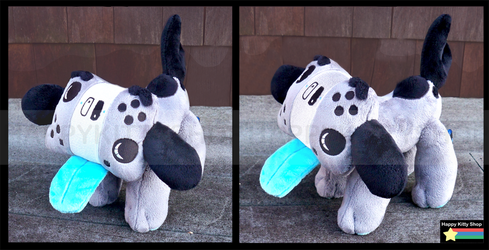 Switch Blue Pup Plush by HappyKittyPlushies