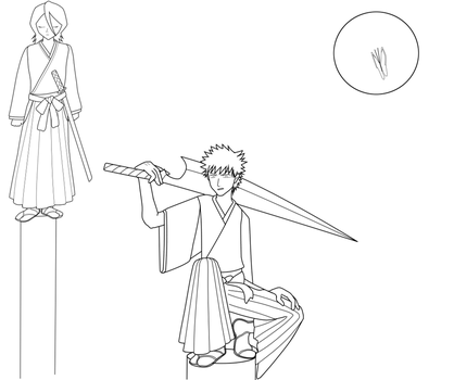 BLEACH: Pillars lineart by aileen