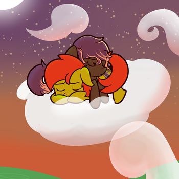 [Commission] A night in the sky by Vaetan