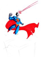 superman in action by Debarsy