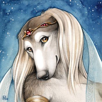 Saluki Princess by Nimrais