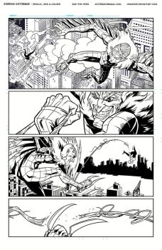 Spider-Gwen Inks Page 4 by Hominids