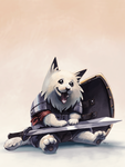 Pettable Warrior by lord-phillock