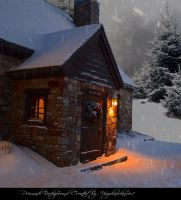 Christmas Cottage 5 by Virgolinedancer1 by VIRGOLINEDANCER1