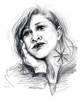 Carrie Fisher by msciuto