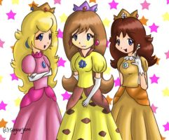 AT - Pikasia, Peach and Daisy by SugarJem