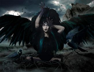 Raven queen by sasha-fantom