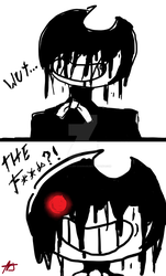 Bendy's reaction for chapter 4 by TheDevilFlan-chan495