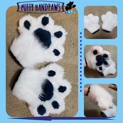 Ferret Puffy Handpaws by SamTheMoose101