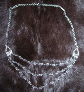 Spiral Chain Necklace by nyxgoldstone