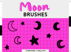BRUSHES: Moon and Stars by Hallyumi