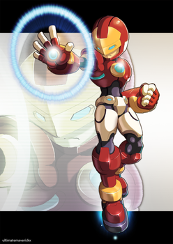 Megaman Model I (Iron Man) by ultimatemaverickx