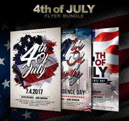 4th of July - Independence Day Flyer Bundle by ayumadesign