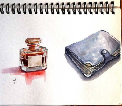 perfume and book by ginL