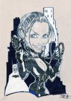 Catwoman Caricature by jacksony22
