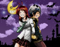 soul eater cosplay Colab. xD by XtremeMiruka