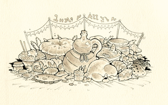 Inktober day 19 - Food by clover-teapot