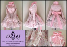 Rose Print Double Collar OP by MissChubi