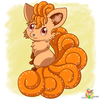 Chibi Vulpix by Stacona