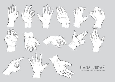 Sketchdump January 2016 [Hands] by DamaiMikaz