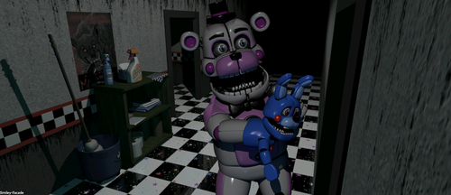 Funtime freddy on the left hall (my version) by The-Smileyy
