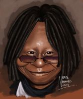 Caricatura Whoopi Goldberg by NataliaBenavides