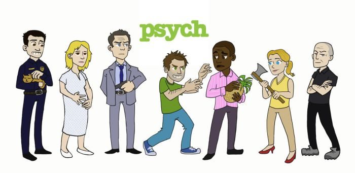 Psych Chibis by Grrrenadine