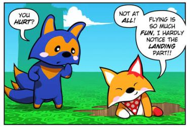 Rocket Fox 19 panel 1: The King Of Crashes by StacyKing