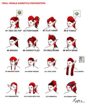 Troll female new hairstyles propositions by Ramz-y