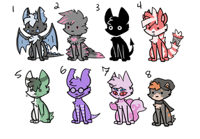 Cute animal adopts OPEN [1/8] by TimeTears