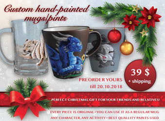 HAND-PAINTED MUGS/PINTS COMMISSIONS by Eleweth