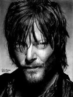 Daryl Dixon - The Walking Dead by Chrisbakerart