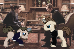 Avengers Ponies - Charles and Erik by GraveNil