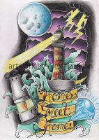 lighthouse tattoo design by Genocide-Al