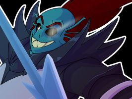 UNDERTALE - Undyne the Undying by BearlyHeroic