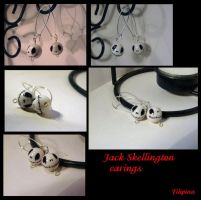 Jack Skellington earings by Marchia