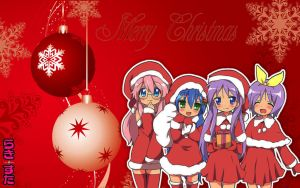 Lucky Star christmas desktop by Gothic-Rebecca