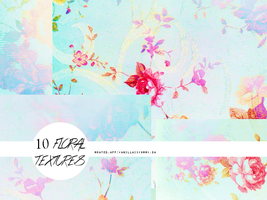 10 FLORAL TEXTURES by vanillaisyummy