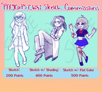 Chibi Sketch Commissions Sheet by Pffycat