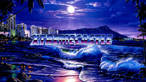XC RetroWave Beach Youtube Channel Banner by DJ7493