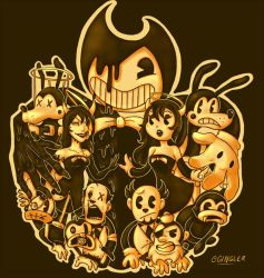 Bendy and the gang by Gingler