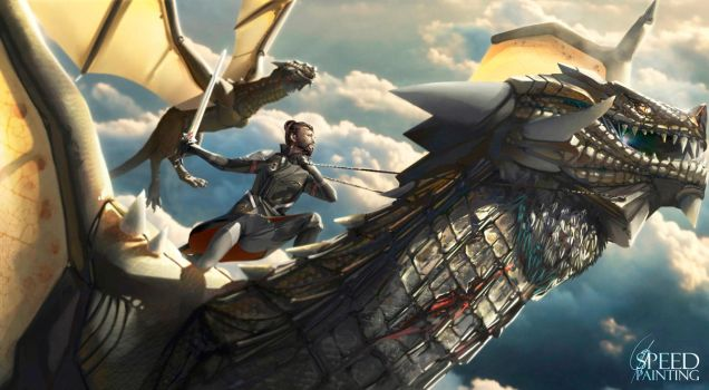 Dragon riders by raynnerGIL