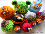 1 short of 12 Angry Birds by Rainbowbubbles