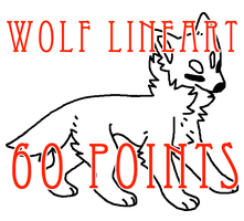 wolf lineart - 60 points by levitzky